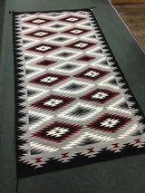 Authentic Navajo Rug, by Coralina Yellowhorse, Eye dazzler Pattern - 7 of 7