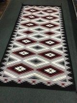 Authentic Navajo Rug, by Coralina Yellowhorse, Eye dazzler Pattern - 2 of 7