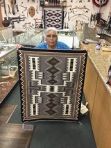 Authentic Navajo Rug, by Cecelia Dee, Storm Pattern - 1 of 8