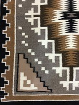 Authentic Navajo Two Grey Hills Rug by Cecelia Dee - 5 of 8
