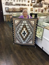 Authentic Navajo Two Grey Hills Rug by Cecelia Dee - 1 of 8