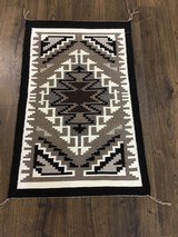 Authentic Navajo Two Grey Hills Rug - 2 of 8