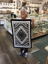 Authentic Navajo Two Grey Hills Rug - 1 of 8