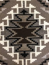 Authentic Navajo Two Grey Hills Rug - 7 of 8