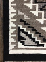 Authentic Navajo Two Grey Hills Rug - 3 of 8