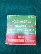 One box Remington Shur Shot 16 ga skeet