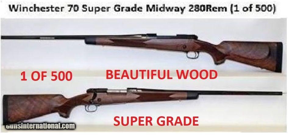 brand new winchester model 70 super grade 280 rem 1 of 500