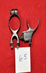 German Mannlicher-Schönauer GK claw mount ring/half rings D.21 mm set WWI - 1 of 2