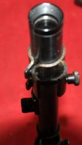 German Vintage rifle scope Zielclar 4 X w/mount ca.22/air for rifle with grooves - 4 of 5