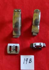 German Akah ring clawmounts set(D.36-37/25.5-26 mm) w/bases, rifle w/rear groove - 5 of 5