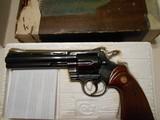 Colt Python 6in blue 357 LNIB