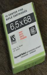 RWS 6,5x68, 127gr.