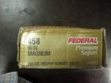 FEDERAL PREMIUM SAFARI AMMUNITION 458 WINCHESTER MAGNUM