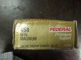 FEDERAL PREMIUM SAFARI AMMUNITION 458 WINCHESTER MAGNUM