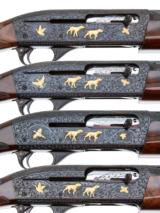 REMINGTON MODEL 1100 F GRADE WITH GOLD 4 GUN SET 12-20-28-410