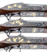 PURDEY BEST OVER UNDER 3 GUN SET 410-28-20 - 4 of 17