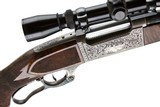 SAVAGE MODEL 99 CUSTOM MANNLICHER 308 GEORGE SHERWOOD ENGRAVED - 8 of 20