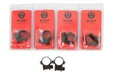 """Ruger - 3 Sets of 1"""" Rings - 1 of 1"""