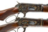 A PAIR OF WINCHESTER 1886 TAKEDOWN CUSTOMS BY ACTOR BRAD JOHNSON 45-70 AND 50 EXPRESS - 1 of 15