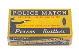 Peters Rustless .38 Special, 148 gr. Wad Cutter Police Match, 50 Cartridges