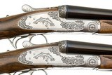 GRIFFIN & HOWE BEST ROUND BODY SIDELOCK EJECTOR PAIR OF SXS GAME GUNS 20 GAUGE