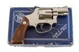 SMITH & WESSON 43AIRWEIGHT 22 LRNICKEL FACTORY LETTER