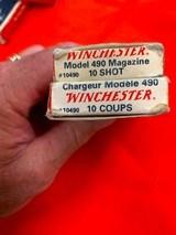 Winchester model 490 magazine's