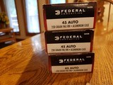 Federal 45 Auto Ammo 230gr and Herters Select Grade 230gr - 1 of 4