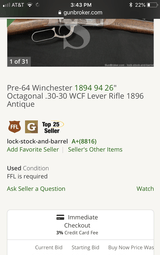Antique 1894 Winchester 38-55 - 11 of 11