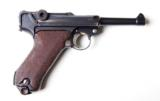 1920 DWM POLICE GERMAN LUGER RIG W/ 2 MATCHING # MAGAZINES - 2 of 10