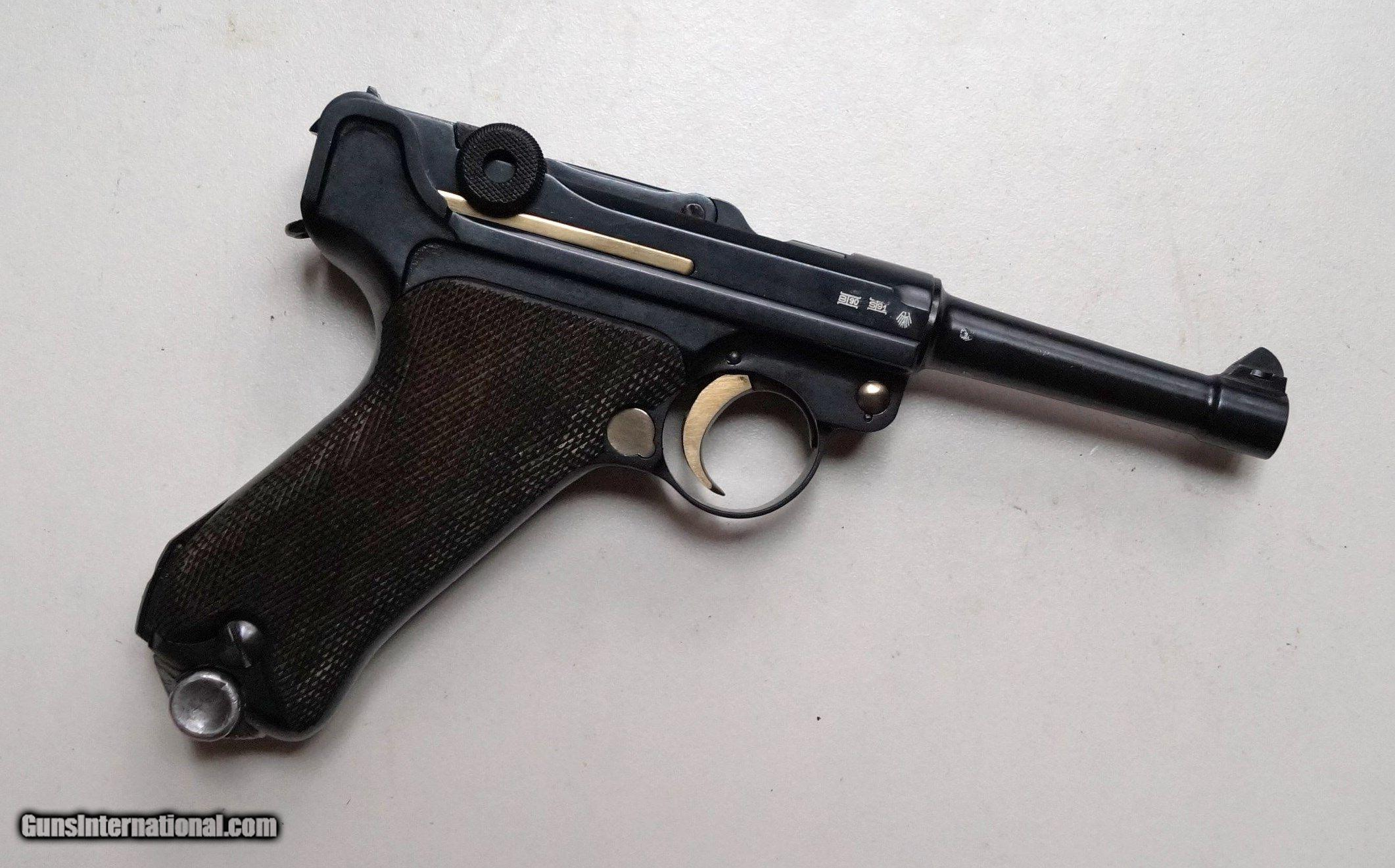 G Date 1935 Nazi German Luger With Matching  Magazine -1895