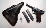 1937 S/42 NAZI GERMAN LUGER RIG W/ 2 MATCHING # MAGAZINE