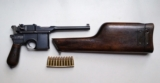 MAUSER BROOMHANDLE PRE WAR COMMERCIAL WITH MATCHING STOCK