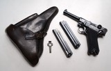 41 BYF (MAUSER) BLACK WIDOW NAZI GERMAN LUGER RIG - ENGRAVED - 1 of 11