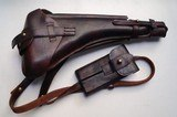 1917 DWM ARTILLERY GERMAN LUGER RIG-RED 9 WITH MATCHING # MAGAZINE - 11 of 13