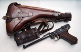 1916 DWM ARTILLERY GERMAN LUGER WITH MATCHING # MAGAZINE RIG / MINT