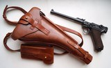 1914 ERFURT MILITARY ARTILLERY GERMAN LUGER RIG WITH MATCHING # MAGAZINE