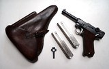 1925 DATED SIMSON/SUHL GERMAN LUGER RIG W/ 2 MATCHING # MAGAZINES - RARE