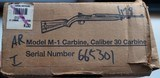 INLAND M1 CARBINE RIFLE WITH BAYONET, HARNESS, OILER, CARRYING CASE AND ORIGINAL BOX - 13 of 13