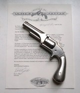 SMITH & WESSON MODEL 1 1/2 FIRST ISSUE WITH CLUB BUTT AND ARCHIVE LETTER