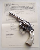 COLT NEW POLICE - NICKEL FINISH WITH COLT ARCHIVE PAPER - MINT CODITION