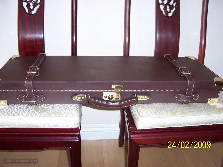 Oak and Leather, Double Rifle, Canvas Case, Whitehunterltd - 3 of 12