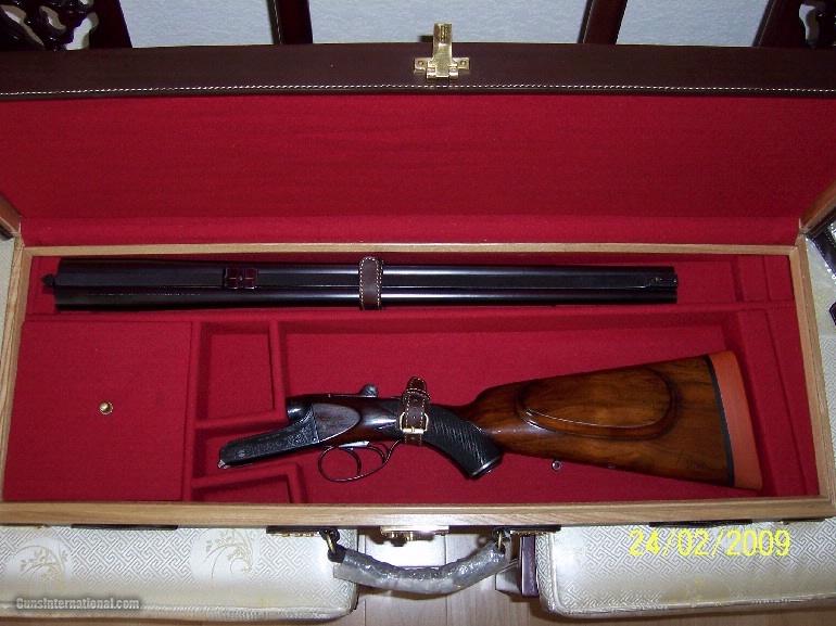 Oak and Leather, Double Rifle, Canvas Case, Whitehunterltd - 9 of 12