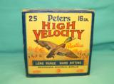 Collectible PETERS High Velocity 16 Ga. ammo FULL