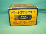 Collectible PETERS High Velocity 16 Ga. ammo CRIMP - 4 of 8