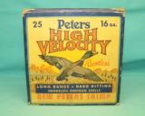 Collectible PETERS High Velocity 16 Ga. ammo CRIMP