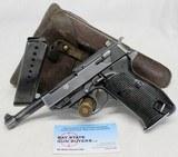 """rare Walther P38 semi-automatic NAZI MARKED pistol """"byf 42"""" """"Eagle/135"""""""