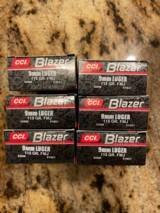 CCI/Blazer, 9mm Luger, 115 gr FMJ