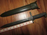 Mint 1943 M1 Garand Bayonet AFH & Sheath - 1 of 8