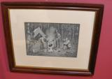 ORIGIANL 1890 CAMPFIRE PRINT BY: AB FROST - 1 of 1